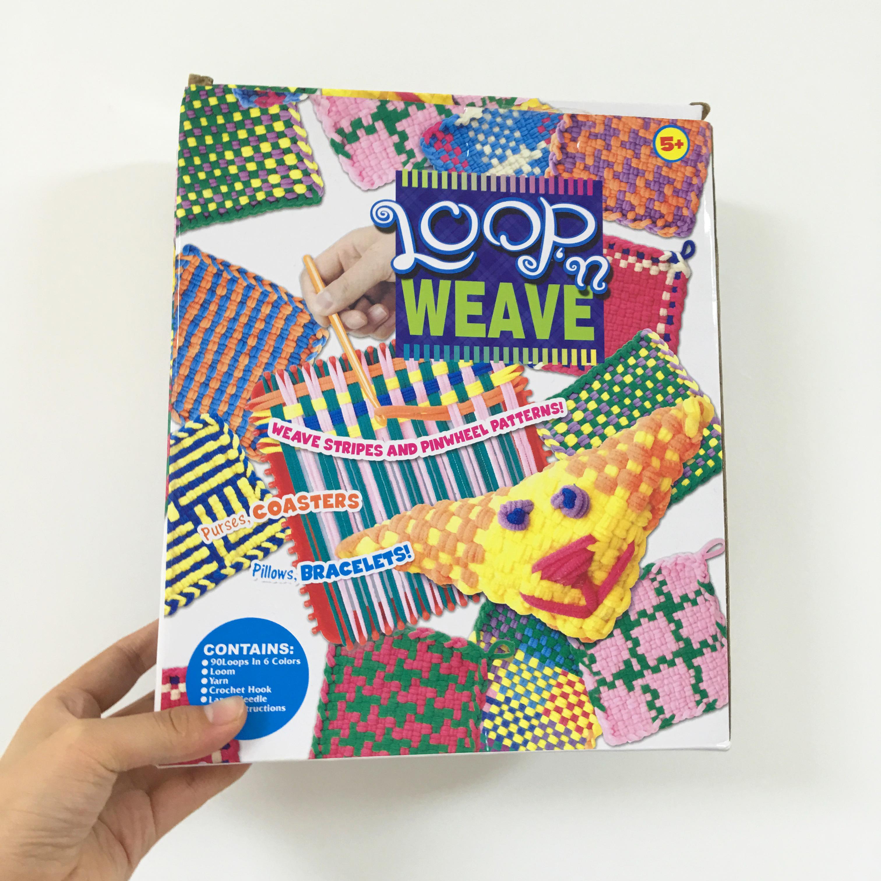 手工织布机布艺编织制作杯垫手袋幼儿园区域益智玩具